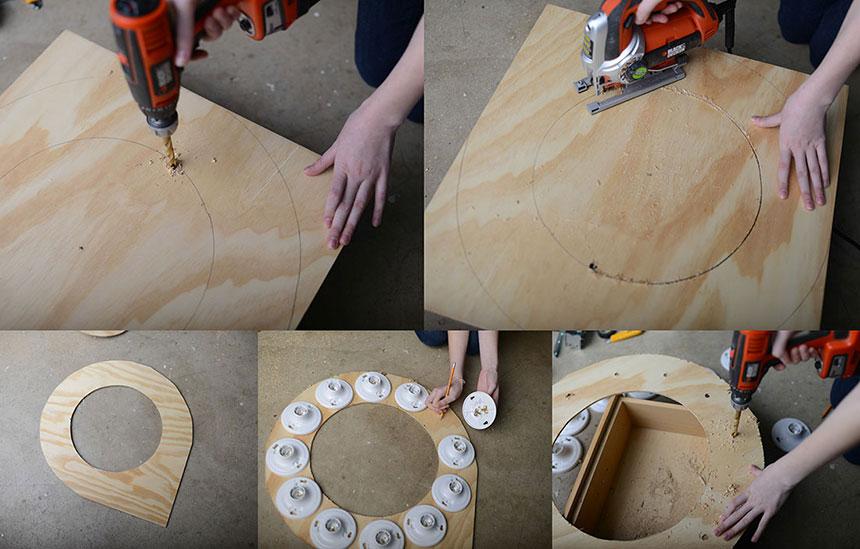 Лампа круглая для визажистов своими руками