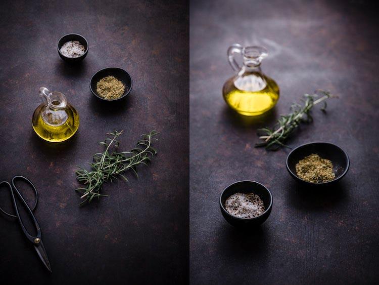 оливковое масло и специи